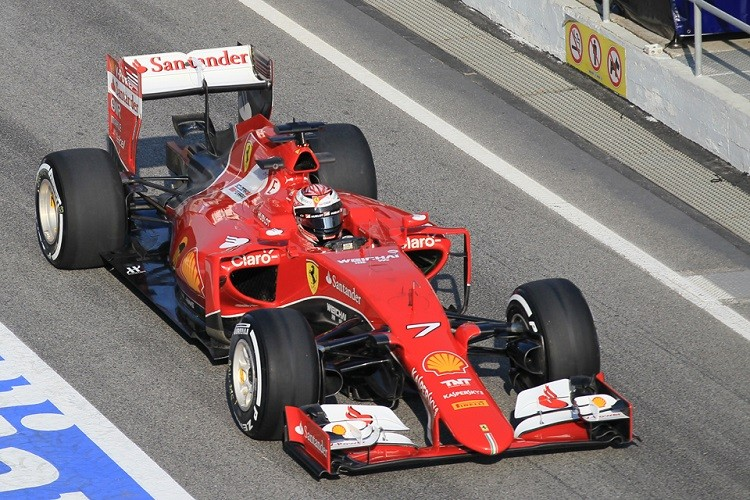 Kimi Raikkonen was second for the second day running, and will hand over to Sebastian Vettel for days 3 & 4 (Credit: Octane Photographic Ltd)
