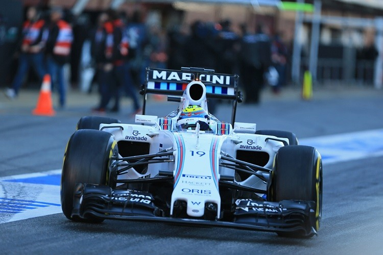 Felipe Massa was forced to settle for P2 behind Hamilton (Credit: Octane Photographic Ltd)