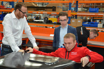 Robertson And Hoy Tested The LMP3 ...... For Size At The Ginetta Factory Recently