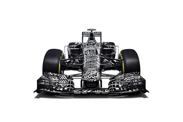 A front view of the camouflaged RB11 revealed in Jerez (Credit: Benedict Redgrove/Red Bull Content Pool)