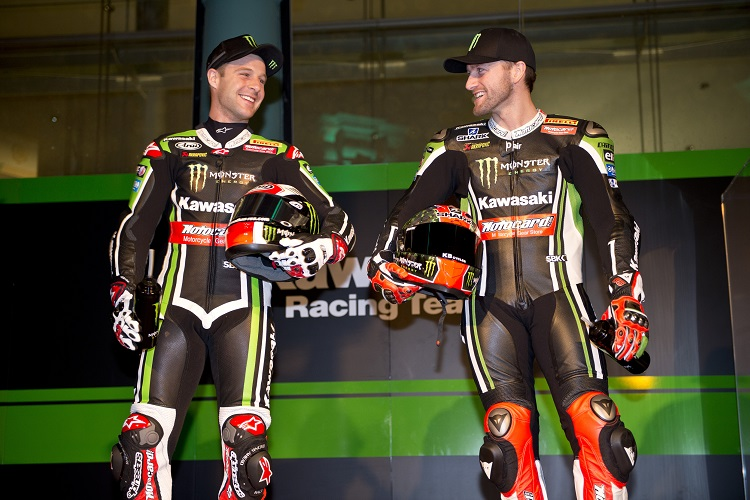 All is well between Kawasaki's British dream team...for now (Photo Credit: Kawasaki)