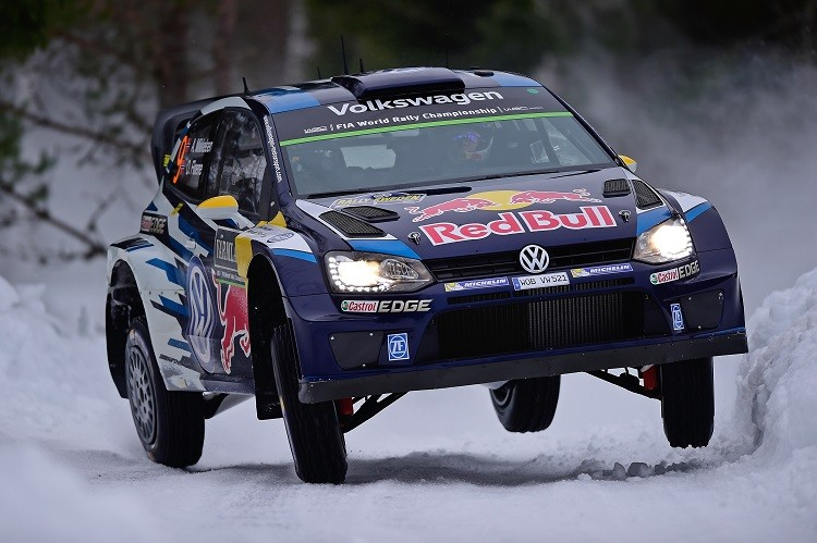 Andreas Mikkelsen spun on the final stage to end his chances of victory (Credit: Volkswagen Media)