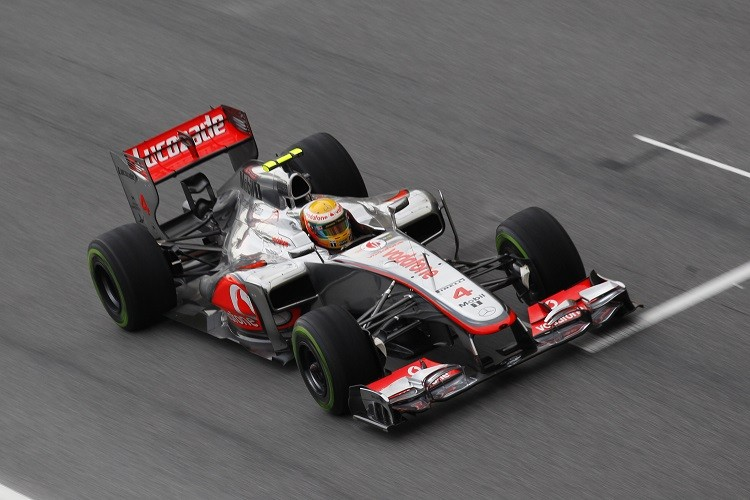 Lewis Hamilton took pole position but dropped to third in the race (Credit: McLaren Media Centre)