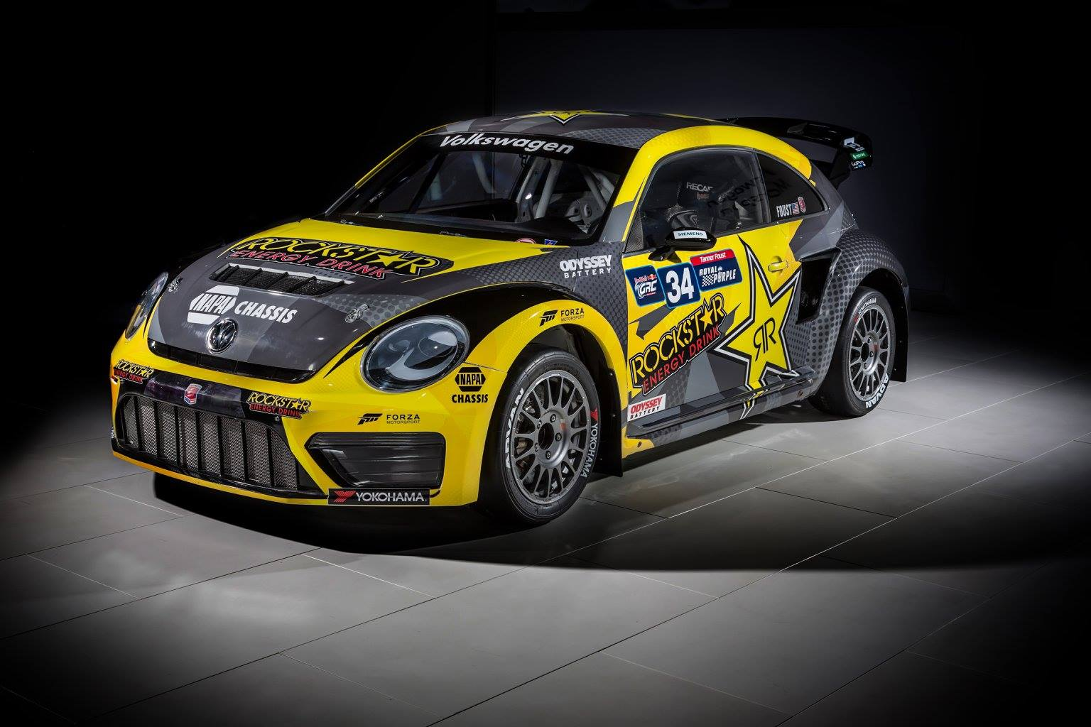 Mini Cup Car >> Tanner Foust unveils 2015 Rockstar Energy VARX Beetle livery - The Checkered Flag
