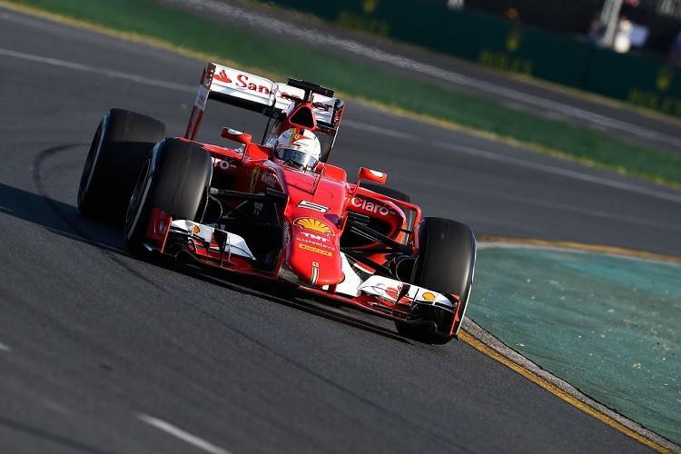 Sebastian Vettel managed to split the two Mercedes during FP3 (Credit: Scuderia Ferrari Media)