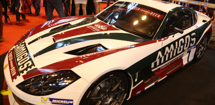 The Amigos-liveried Ginetta G55 Was On Show At Autosport International In January - Credit: Jakob Ebrey Photography