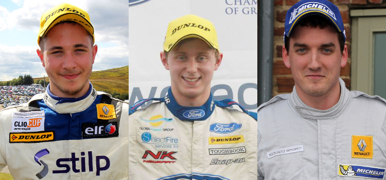 From L to R: Can Stilp, Sutton or Stilp be the next Clio graduate in the BTCC? - Credit: Jakob Ebrey Photography