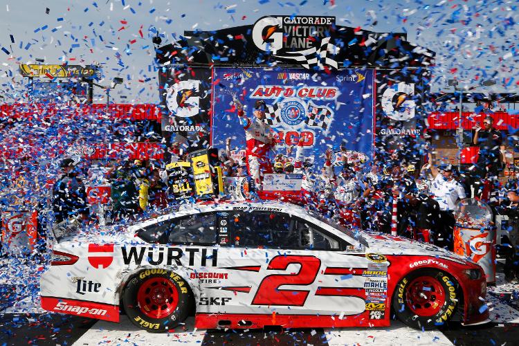 Brad Keselowski, Auto Club Speedway (Jerry Markland/NASCAR via Getty Images)