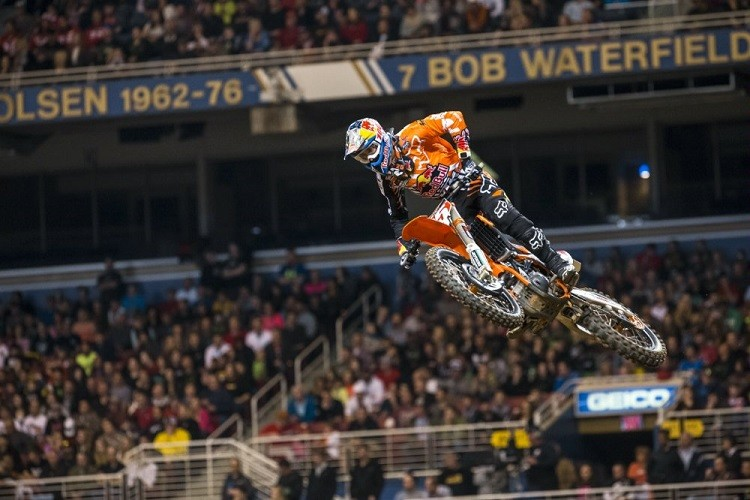 Marvin Musquin took the spoils in the 250cc class (Credit: Garth Milan/Red Bull Content Pool)