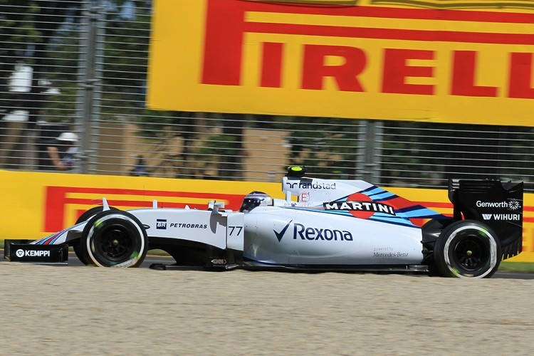 Valtteri Bottas the best of the rest in third, over 1 second behind the two Mercedes (Credit: Octane Photographic Ltd)
