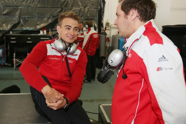 Nico Müller with former driver Kimmo Liimatainen.