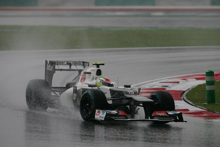 Sergio Perez announced himself on the world stage in Malaysia 2012 (Credit: Sauber Motorsport AG)