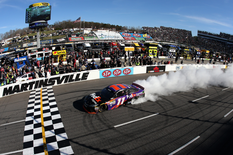 Hamlin took Toyota's Sprint Cup win in nearly a year (Photo: Nick Laham/NASCAR via Getty Images)