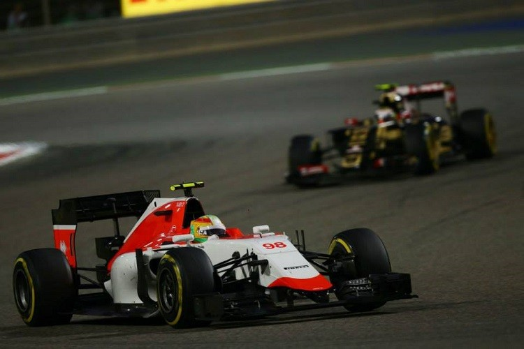 Roberto Merhi was beaten by his team-mate again in Bahrain (Credit: Manor F1 Team)