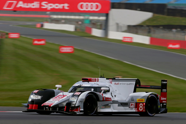The #8 R18 e-tron quattro will start as the better of the two Audis in third (Credit: Audi Motorsport)