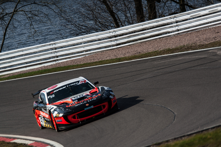 The Optimum run Ginetta G55 GT4 would eventually come out on top in the GT4 class (Credit: Nick Smith/The Image Team)