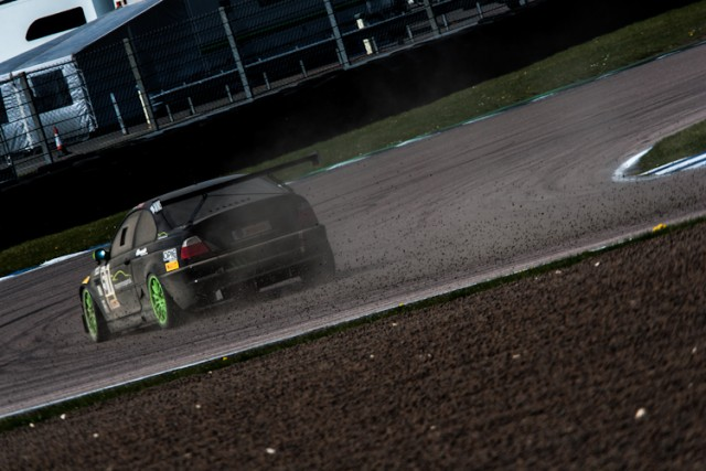 Mike Moss became least favorite person at Rockingham after dumping gravel all over Tarzan for the second time in a day.