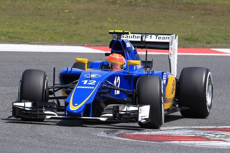 Felipe Nasr took the best result of the rookies in China, finishing eighth (Credit: Sauber Motorsports AG)