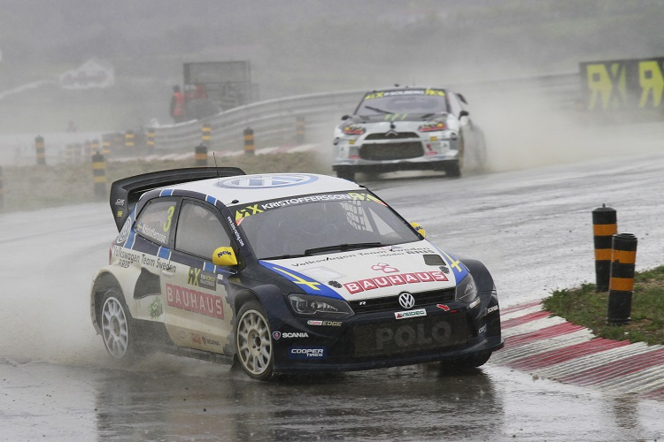 Johan Kristofferson was victorious in Portugal (Credit: FIA World Rallycross Championship)
