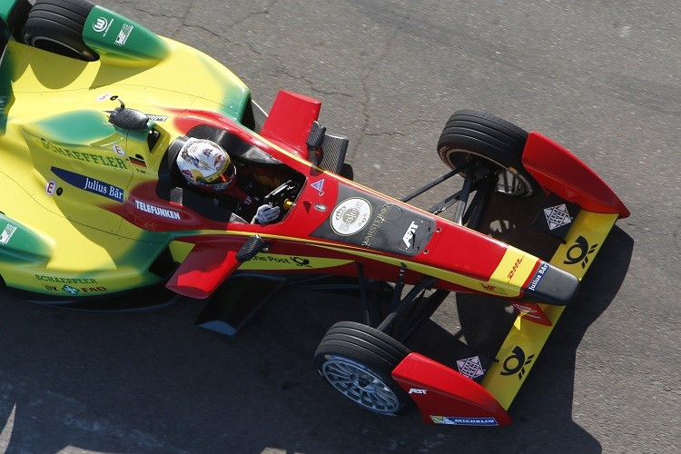 Daniel Abt started from pole position but was given a drivethrough for using excess power (Credit: FIA Formula E)