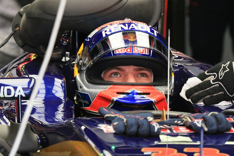 Max Verstappen just finished outside the points in eleventh (Credit: Octane Photographic Ltd)
