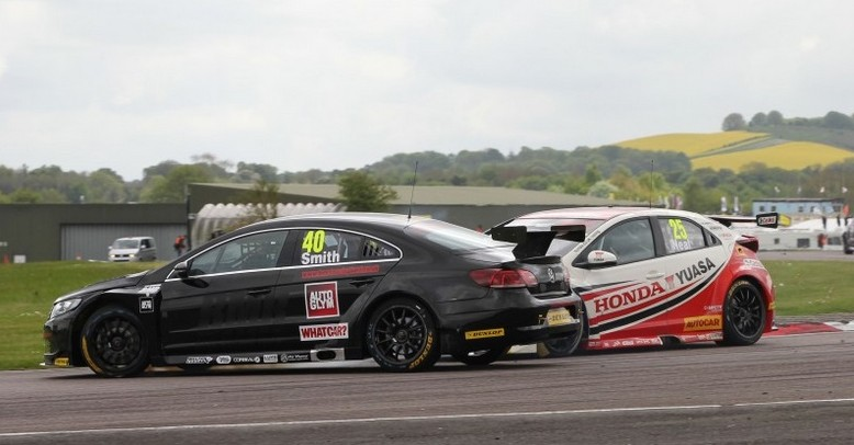 Race two clash with Neal followed early Sunday puncture - Photo: btcc.net