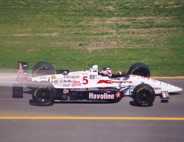 Nigel Mansell was close to winning the 1993 Indy 500 before a pit stop error (Credit: IndyCar Media)