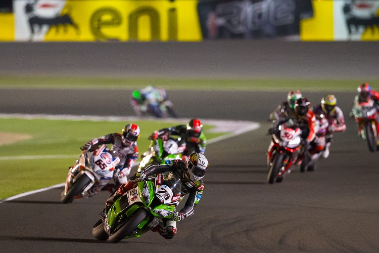 Baz was in the thick of the action on his final WSBK weekend (Photo Credit: WorldSBK.com)
