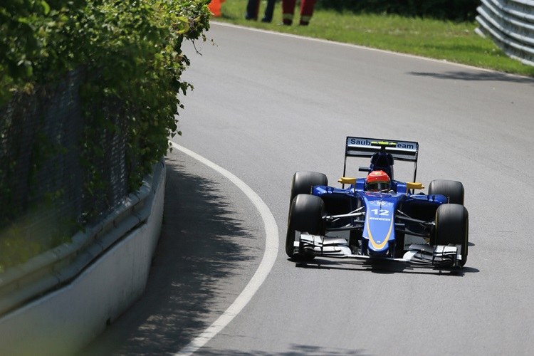 Felipe Nasr suffered a disappointing weekend in Canada, including a heavy FP3 crash (Credit: Octane Photographic Ltd)