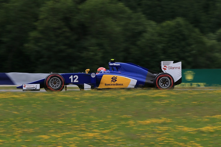 Felipe Nasr just missed out on points after brake issues with his Sauber (Credit: Octane Photographic Ltd)