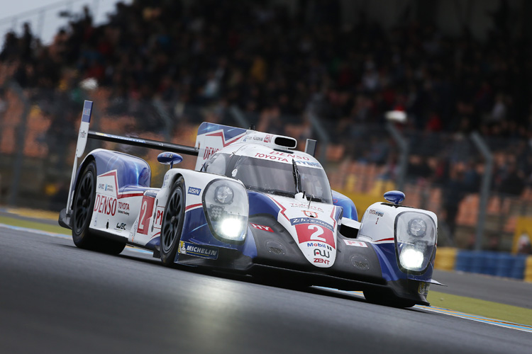 Despite an underwhelming performance, Toyota finished 6th and 8th. (Credit: Toyota Hybrid Racing.)