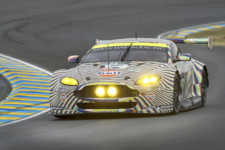 The #97 Aston Martin was involved in almighty battle with the prancing horse of James Calado for much of the hour (Credit: Aston Martin Racing)
