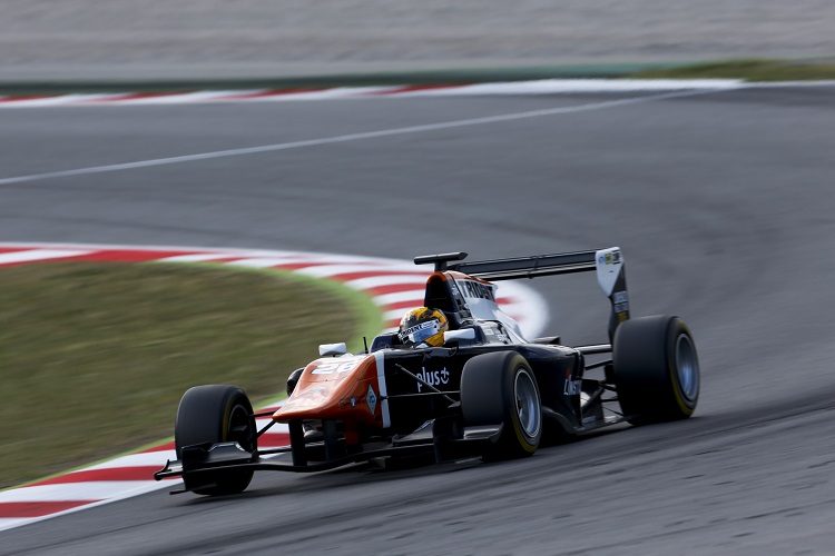 Artur Janosz made his GP3 Series race debut in Spain last month (Zak Mauger/GP3 Series Media Service)