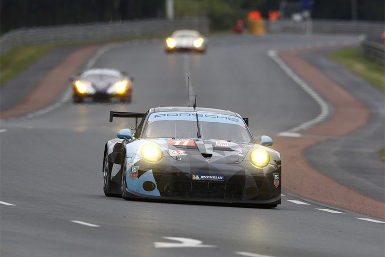 The Dempsey Racing-Proton Porsche during 2015 test day
