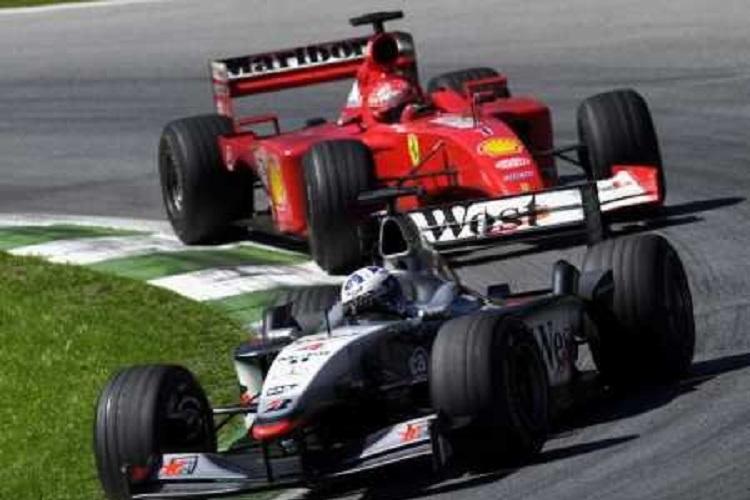 David Coulthard was victorious in Austria (Credit: Raisport/Il Corriere della Sera)