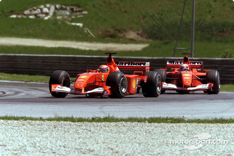 Michael Schumacher started the Austrian GP from pole position, Rubens Barrichello started fourth (Credit: Motorsport.com)