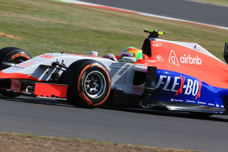 Roberto Merhi finished P12 for Manor's best result of the season so far (Credit: Octane Photographic Ltd)