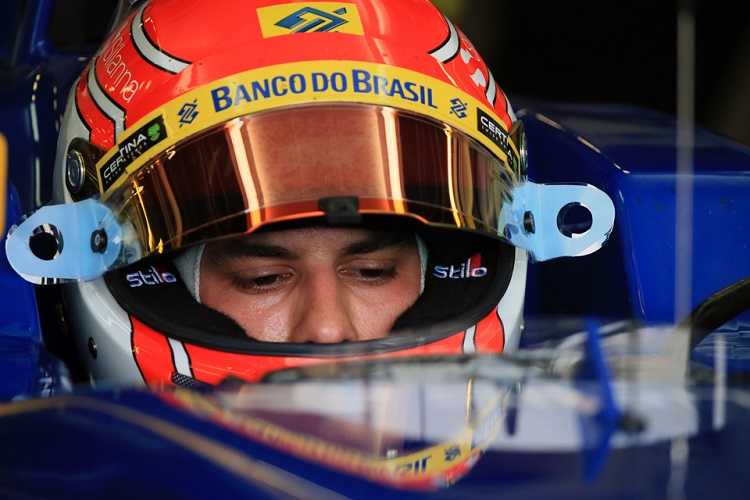 Felipe Nasr's race was over with gearbox problems before the race begun (Credit: Octane Photographic Ltd)