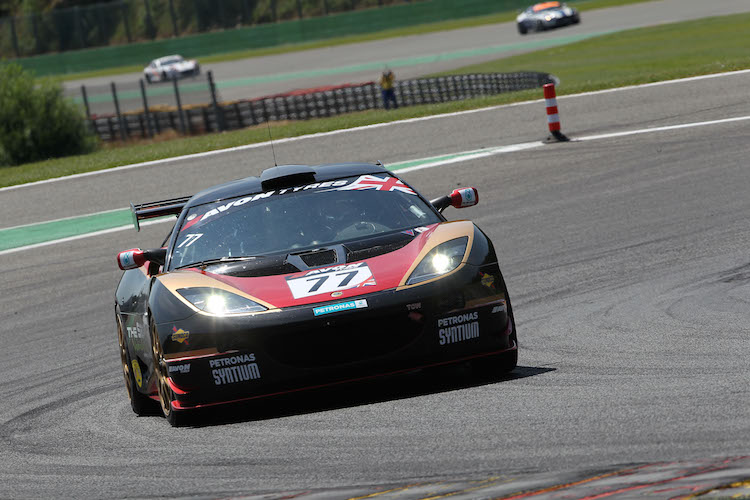 ISSY Racing's Lotus suited the long straights of Spa (Credit: British GT)
