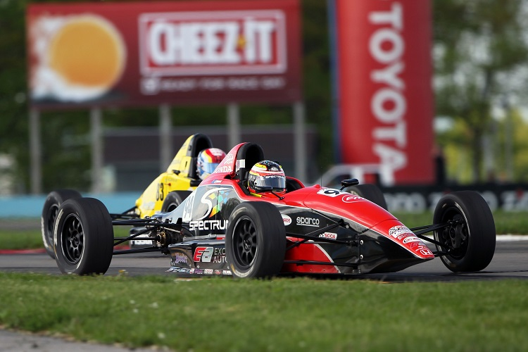 Scott Andrews currently leads the F1600 Formula F Championship (Credit: Exclusive Autosport)