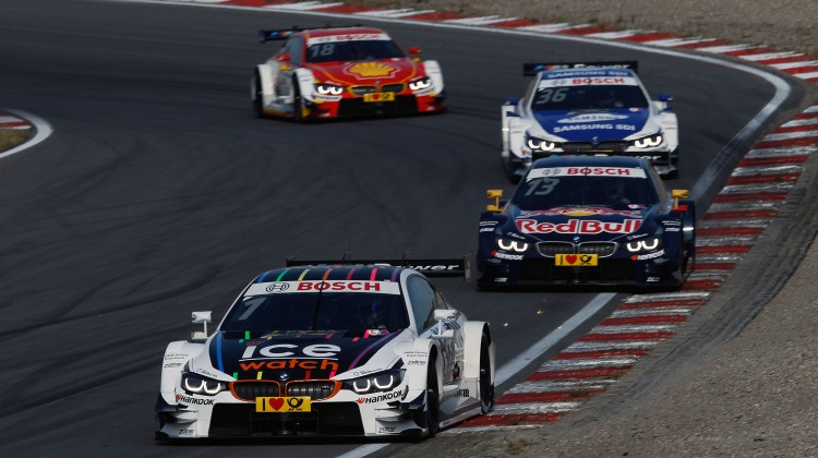 Zandvoort (NL) 11th July 2015. BMW Motorsport, Race 07, Marco Wittmann (DE) Ice-Watch BMW M4 DTM, Antonio Felix da Costa (PT) Red Bull BMW M4 DTM, Maxime Martin (BE) SAMSUNG BMW M4 DTM and Augusto farfus (BR) Shell BMW M4 DTM. This image is copyright free for editorial use © BMW AG (07/2015).