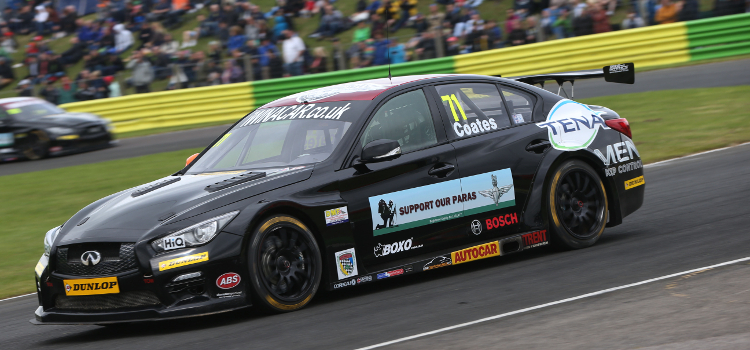 Coates Is Getting To Grips With His New Infiniti Q50 - Credit: btcc.net
