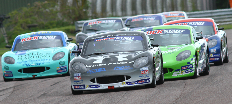 Floersch Leads The Pack At Thruxton - Credit: Jakob Ebrey Photography