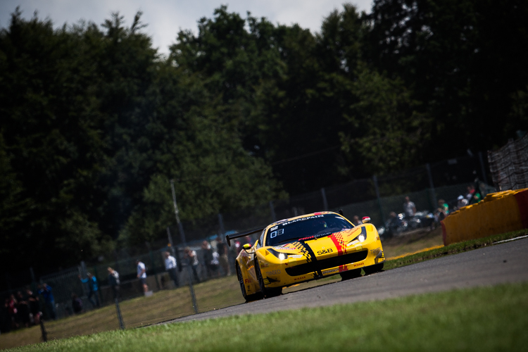 Toni Vilander put the yellow AF Corse Ferrari top of the session (Credit: Tom Loomes Photography)