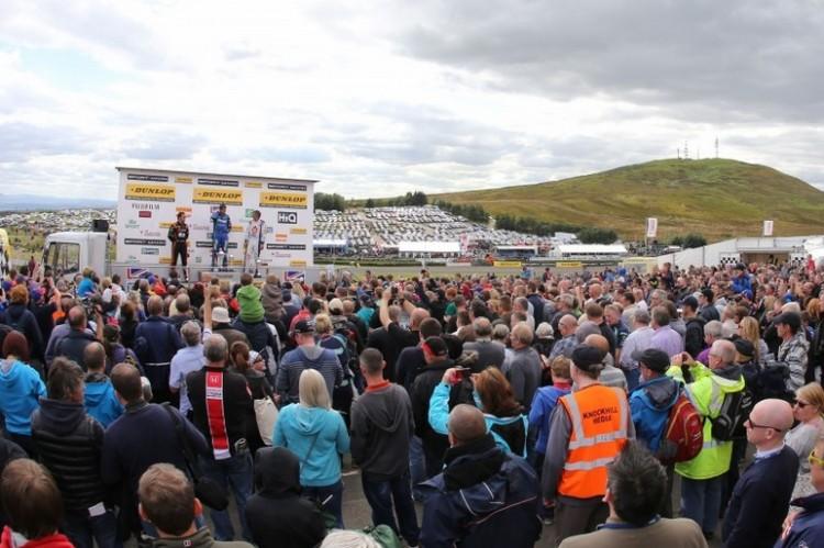 BTCC Knockhill podium