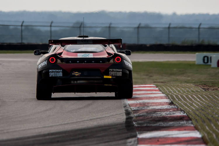 So strong they've been this weekend, even the photographers only see the back of the Lotus (Credit: Nick Smith/TheImageTeam.com)