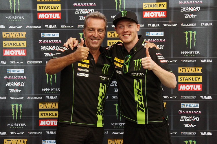 Herve Poncharal and Bradley Smith (Photo Credit: Tech 3)