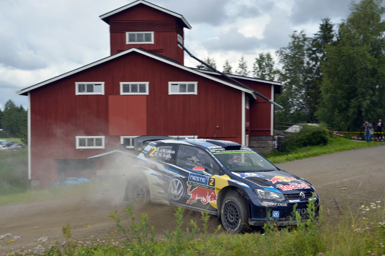 Jari-Matti Latvala, Neste Oil Rally Finland Day 1 (Credit: Volkswagen Motorsport)