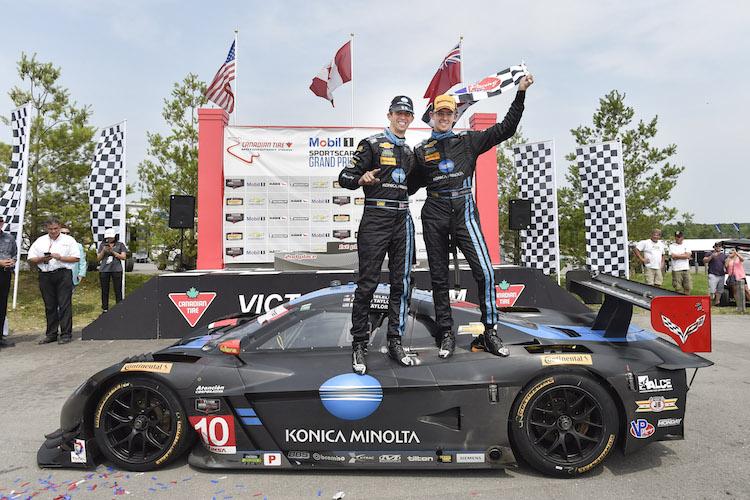Brothers Jordan and Ricky Taylor won by a slim margin at Canadian Tire Motorsport Park (Credit IMSA.com)