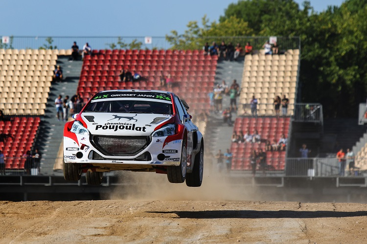 Jerome Grosset-Janin made the final and started on the front row (Credit: FIA World Rallycross Championship)